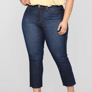 Dark Wash High Rise Boyfriend Jeans- Fashion Nova